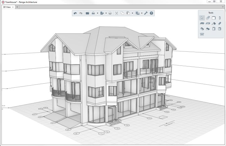 Renga Architectureu0027s Interface Is Focused On Making Design Comfortable, And  On Making All Tools Available In 3D.
