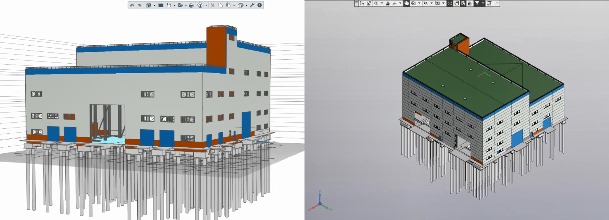 Model of the ventilation plant facility exported to .c3d forma